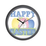 Cute Happy Easter Design Wall Clock