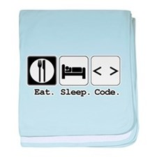 Eat. Sleep. Code. Infant Blanket