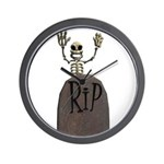 Tombstone & Skeleton Design Wall Clock