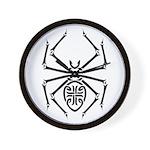 Tribal Spider Design Wall Clock