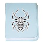 Tribal Spider Design Infant Blanket