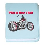 How I Roll (Motorcycle) Infant Blanket