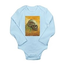 Van Gogh Skull Still Life Long Sleeve Infant Bodys