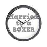 Married to a Boxer Wall Clock