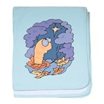 Cute Nightcrawler Worm Infant Blanket