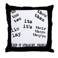 Pet Peeves Throw Pillow