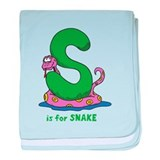S is for Snake Infant Blanket