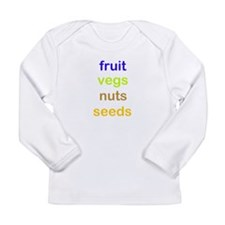 fruit vegs nuts seeds Long Sleeve Infant T-Shirt