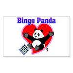 Bingo Panda Neon Heart Sticker (Rectangle 50 pk)