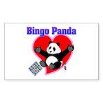 Bingo Panda Neon Heart Sticker (Rectangle)