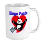 Bingo Panda Neon Heart Large Mug