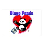 Bingo Panda Neon Heart Postcards (Package of 8)