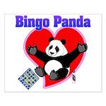 Bingo Panda Neon Heart Small Poster