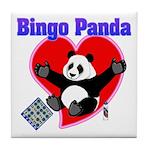 Bingo Panda Neon Heart Tile Coaster