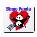 Bingo Panda Neon Heart Mousepad