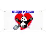 Bingo Panda Neon Heart Banner