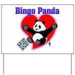 Bingo Panda Neon Heart Yard Sign