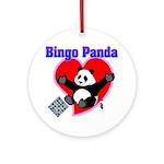 Bingo Panda Neon Heart Ornament (Round)