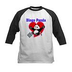 Bingo Panda Neon Heart Kids Baseball Jersey