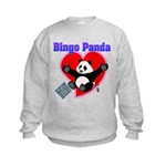 Bingo Panda Neon Heart Kids Sweatshirt