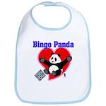 Bingo Panda Neon Heart Bib