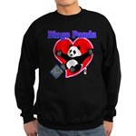 Bingo Panda Neon Heart Sweatshirt (dark)