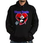 Bingo Panda Neon Heart Hoodie (dark)