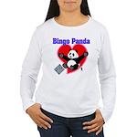 Bingo Panda Neon Heart Women's Long Sleeve T-Shirt