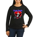 Bingo Panda Neon Heart Women's Long Sleeve Dark T-