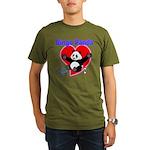 Bingo Panda Neon Heart Organic Men's T-Shirt (dark
