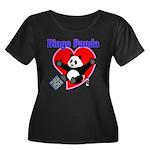 Bingo Panda Neon Heart Women's Plus Size Scoop Nec