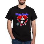 Bingo Panda Neon Heart Dark T-Shirt