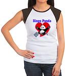 Bingo Panda Neon Heart Women's Cap Sleeve T-Shirt
