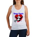 Bingo Panda Neon Heart Women's Tank Top