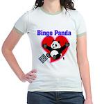 Bingo Panda Neon Heart Jr. Ringer T-Shirt