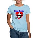 Bingo Panda Neon Heart Women's Light T-Shirt