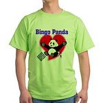 Bingo Panda Neon Heart Green T-Shirt