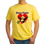 Bingo Panda Neon Heart Yellow T-Shirt