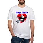 Bingo Panda Neon Heart Fitted T-Shirt