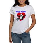 Bingo Panda Neon Heart Women's T-Shirt
