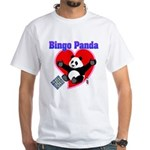 Bingo Panda Neon Heart White T-Shirt