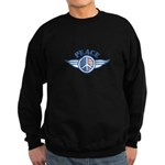 Patriotic Peace Design Sweatshirt (dark)