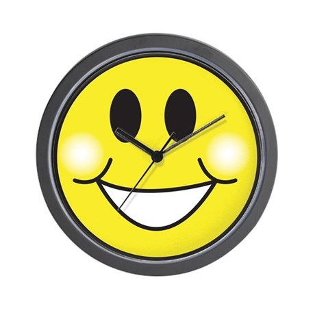 Retro-Style Smiley Face Wall Clock