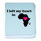I Left My Heart in Africa Infant Blanket