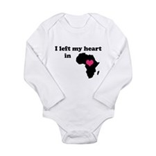 I Left My Heart in Africa Long Sleeve Infant Bodys