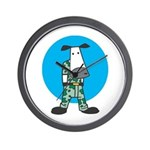 Military Cow in Camo Wall Clock