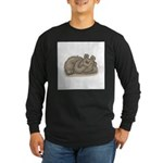 Silly Little Sleeping Bear Long Sleeve Dark T-Shir