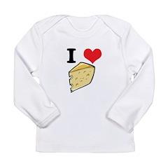 I Heart (Love) Cheese Long Sleeve Infant T-Shirt