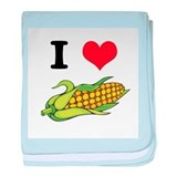 I Heart (Love) Corn (On the C Infant Blanket