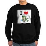 I Heart (Love) Green Olives Sweatshirt (dark)